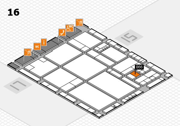 drupa 2016 hall map (Hall 16): stand B66