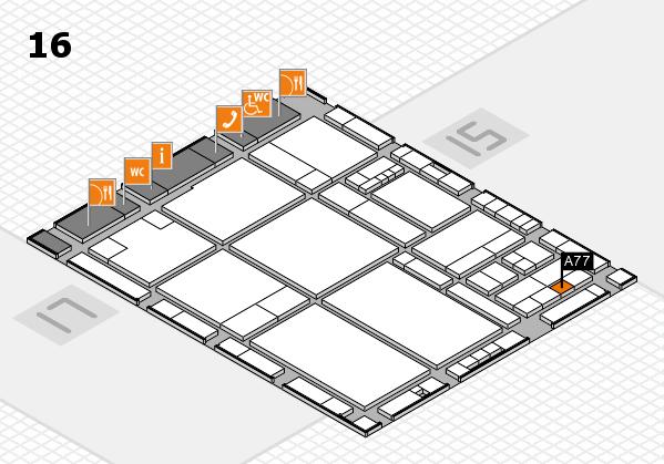 drupa 2016 hall map (Hall 16): stand A77