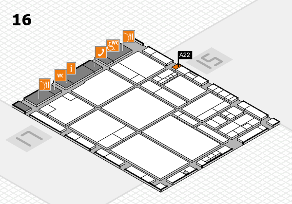 drupa 2016 hall map (Hall 16): stand A22