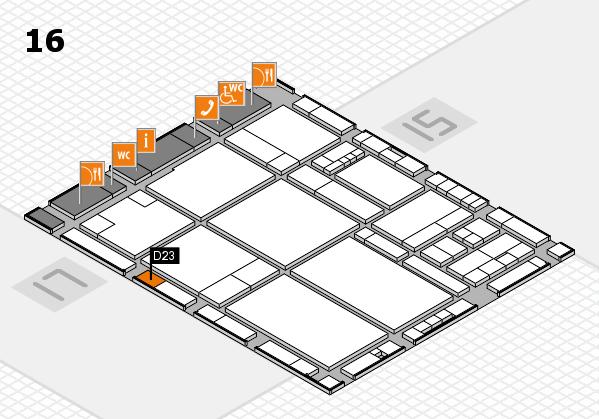 drupa 2016 hall map (Hall 16): stand D23