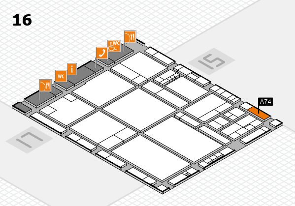 drupa 2016 hall map (Hall 16): stand A74