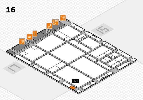 drupa 2016 hall map (Hall 16): stand D73