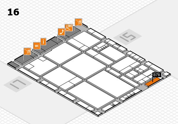 drupa 2016 hall map (Hall 16): stand B78