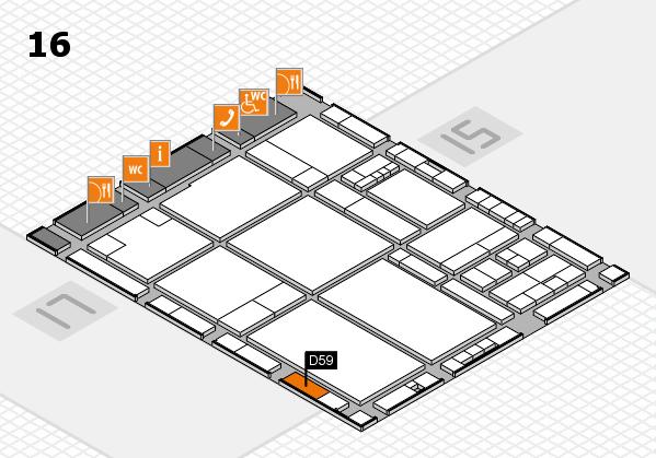 drupa 2016 hall map (Hall 16): stand D59