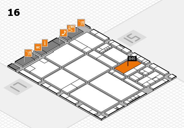 drupa 2016 hall map (Hall 16): stand B46