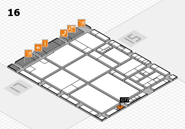drupa 2016 hall map (Hall 16): stand C77