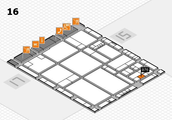 drupa 2016 hall map (Hall 16): stand B76
