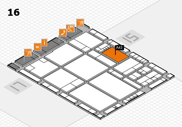 drupa 2016 hall map (Hall 16): stand A43