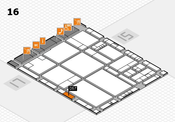drupa 2016 hall map (Hall 16): stand D57