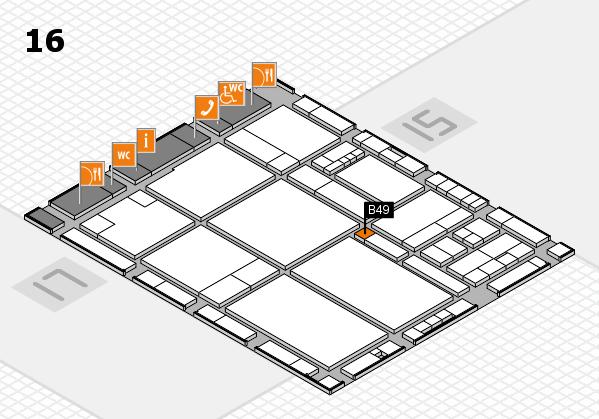 drupa 2016 hall map (Hall 16): stand B49