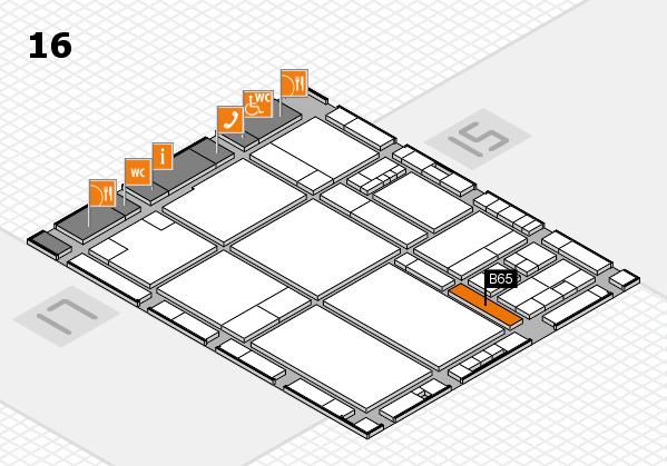 drupa 2016 hall map (Hall 16): stand B65