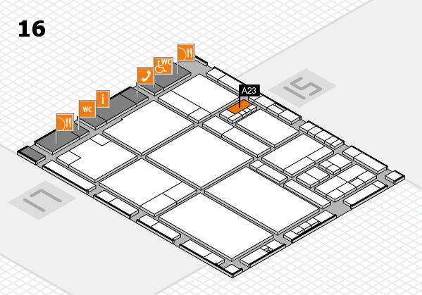 drupa 2016 hall map (Hall 16): stand A23