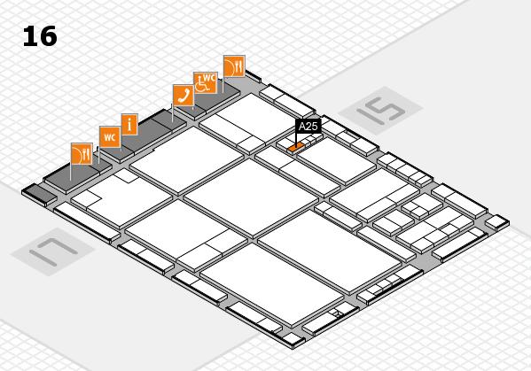 drupa 2016 hall map (Hall 16): stand A25
