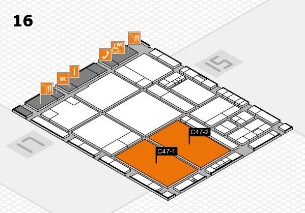 drupa 2016 Hallenplan (Halle 16): Stand C47-1, Stand C47-2