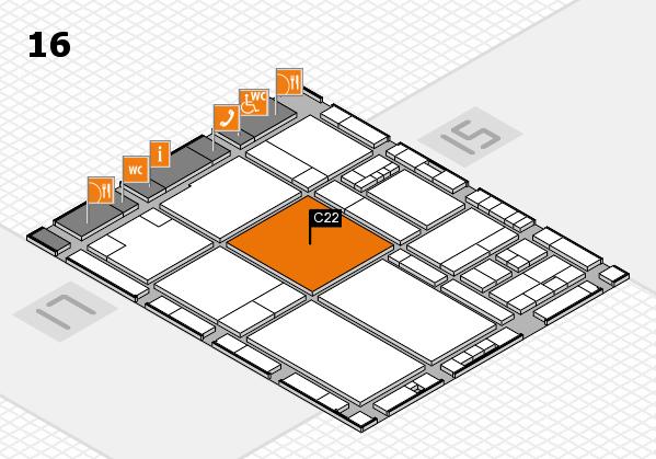drupa 2016 Hallenplan (Halle 16): Stand C22