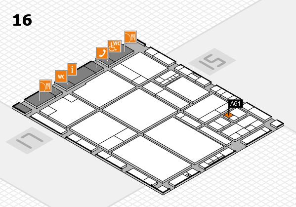 drupa 2016 hall map (Hall 16): stand A61