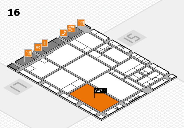 drupa 2016 Hallenplan (Halle 16): Stand C47-1