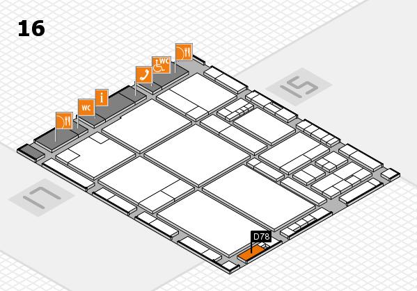 drupa 2016 hall map (Hall 16): stand D78
