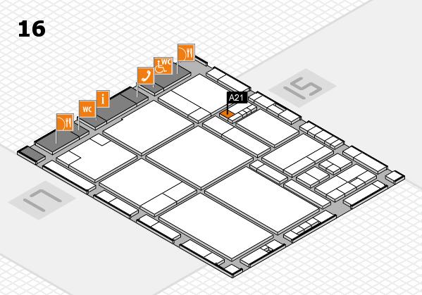 drupa 2016 hall map (Hall 16): stand A21