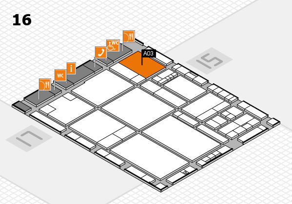 drupa 2016 hall map (Hall 16): stand A03