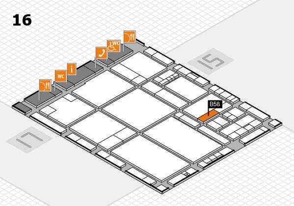 drupa 2016 hall map (Hall 16): stand B58
