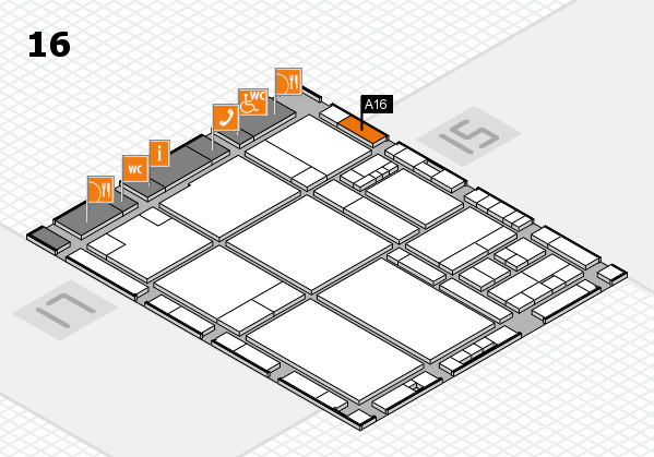 drupa 2016 hall map (Hall 16): stand A16