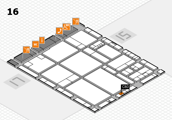 drupa 2016 hall map (Hall 16): stand C80