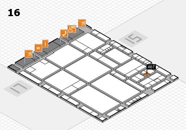 drupa 2016 hall map (Hall 16): stand A67