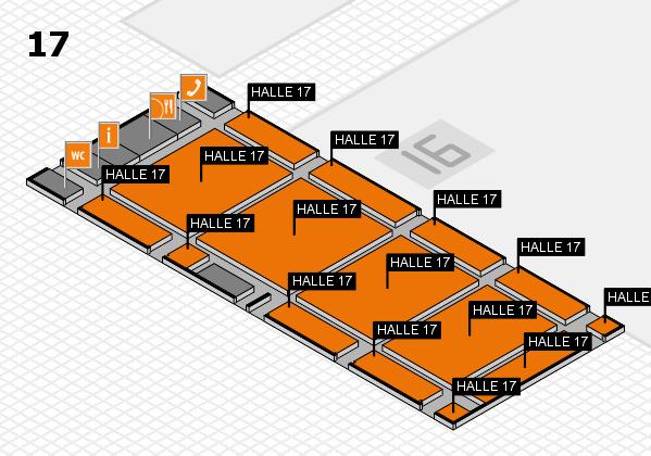 drupa 2016 hall map (Hall 17): stand HALLE 17