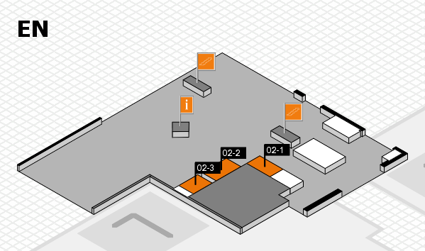 drupa 2016 hall map (North Entrance): stand 02-1, stand 02-3