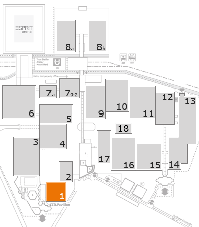 drupa 2016 fairground map: Hall 1