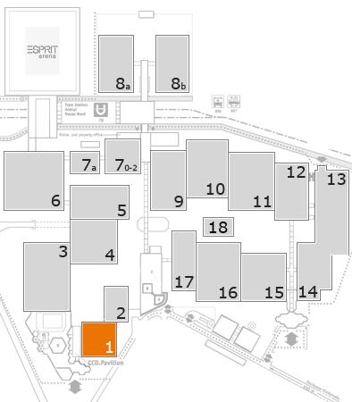 drupa 2016 Geländeplan: Halle 1
