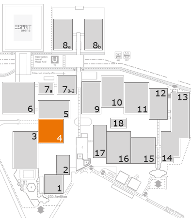 drupa 2016 fairground map: Hall 4