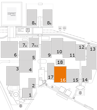 drupa 2016 fairground map: Hall 16