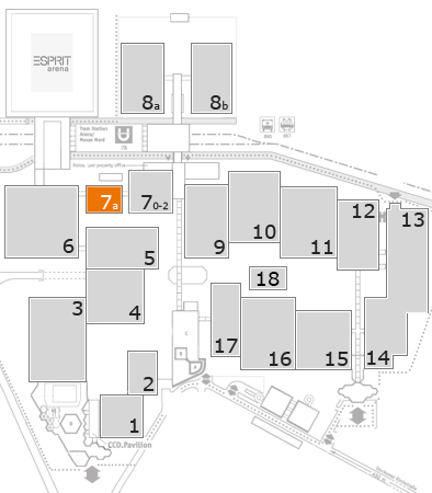 drupa 2016 fairground map: Hall 7a