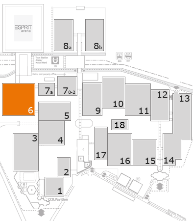 drupa 2016 fairground map: Hall 6
