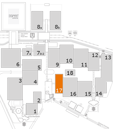 drupa 2016 fairground map: Hall 17