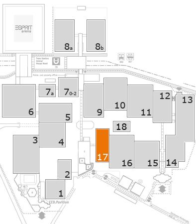 drupa 2016 Geländeplan: Halle 17