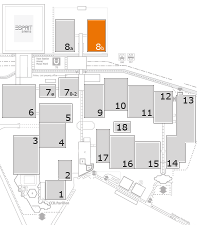 drupa 2016 fairground map: Hall 8b