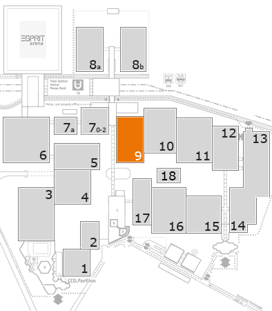 drupa 2016 fairground map: Hall 9