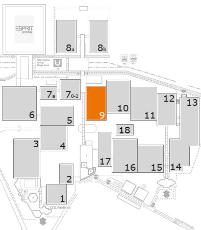 drupa 2016 Geländeplan: Halle 9