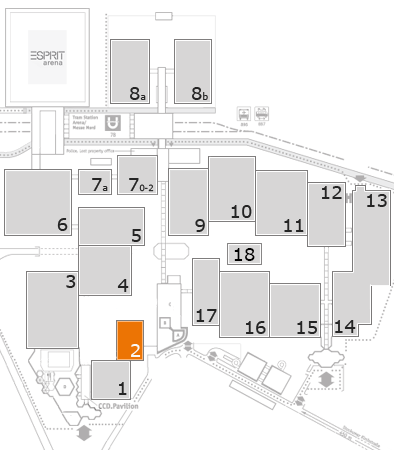 drupa 2016 fairground map: Hall 2