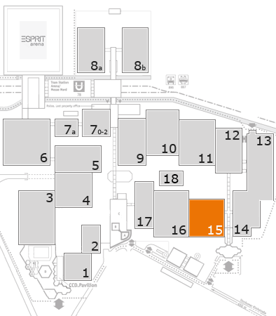 drupa 2016 fairground map: Hall 15