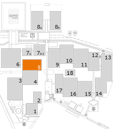 drupa 2016 fairground map: Hall 5