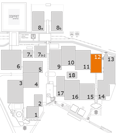 drupa 2016 fairground map: Hall 12