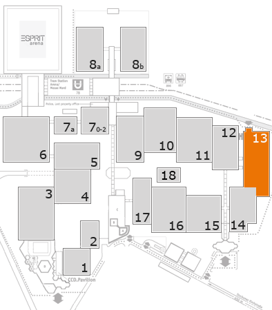drupa 2016 fairground map: Hall 13