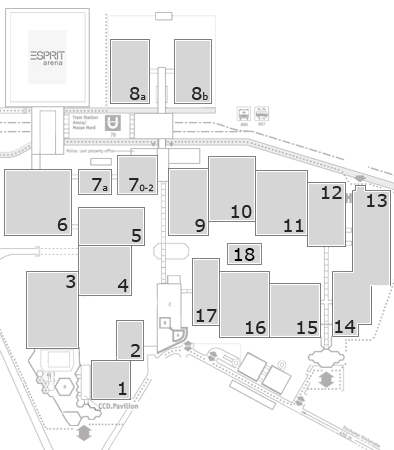 drupa 2016 fairground map: North Entrance