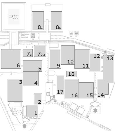 drupa 2016 Geländeplan: Eingang Nord