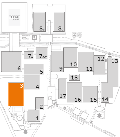 drupa 2016 fairground map: Hall 3
