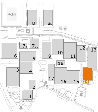 drupa 2016 fairground map: Hall 14